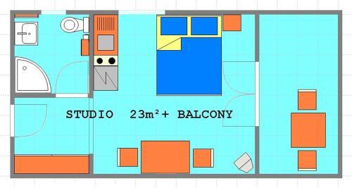 Studio Apartment Okrug Gornji near Sea