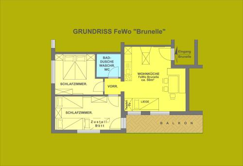 Apartment Brunelle with Balcony (4 adults)