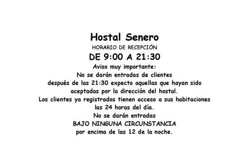 Hostal Senero