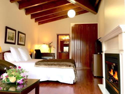 Habitación Doble Superior con chimenea y acceso al spa Hotel Del Lago 1
