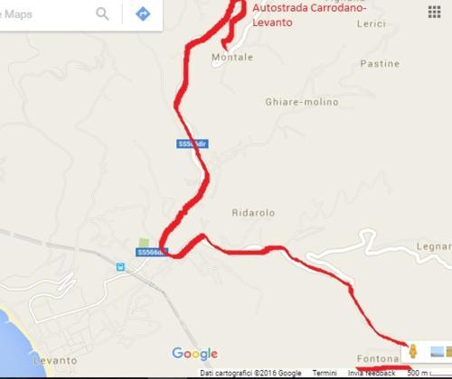 Fontona Map And Hotels In Fontona Area Levanto