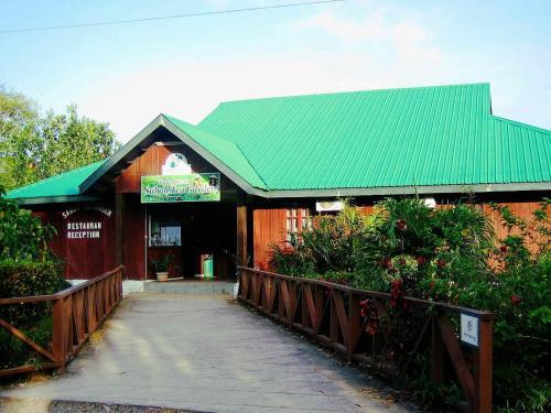 Sabah Tea Garden-Longhouses front view