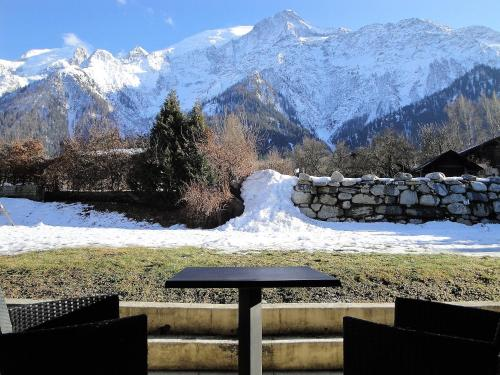 Double room garden access Mont Blanc side