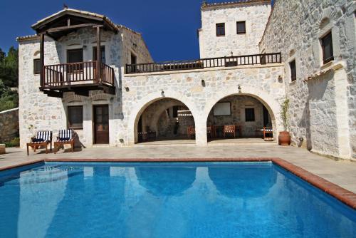 Stone Castle Villa in Athens Suburb