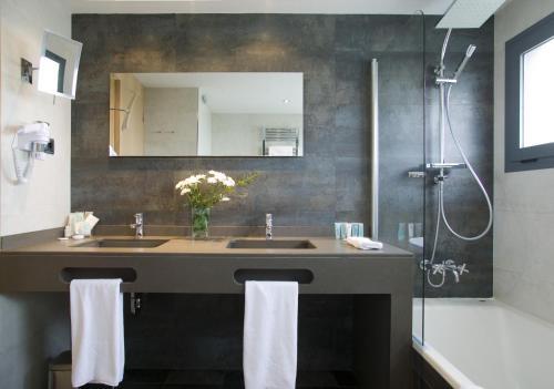 Doppel- oder Zweibettzimmer mit Gartenblick und Zugang zum Spa - Einzelnutzung Hotel Spa Niwa 1
