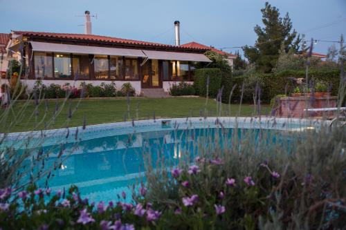 Lagonisi Villa Elsa, magical garden and swimming pool