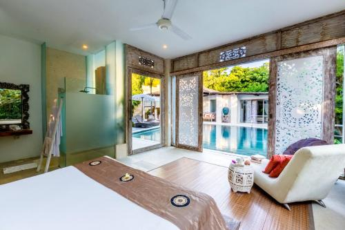 双人间 - 可直通泳池 (Double Room with Pool Access )