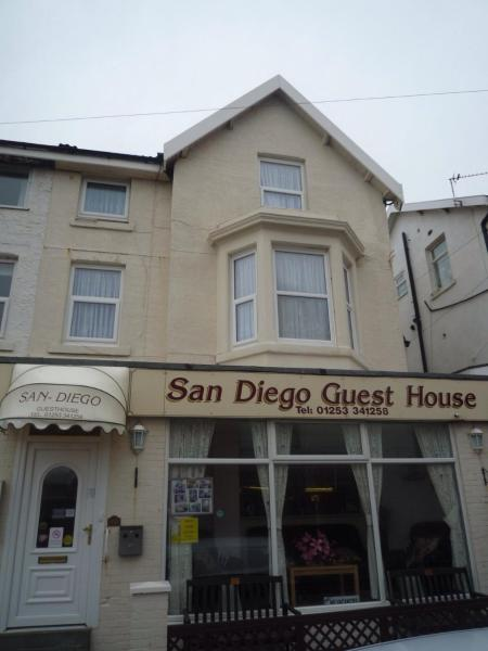 San Diego Guest House in Blackpool, Lancashire, England