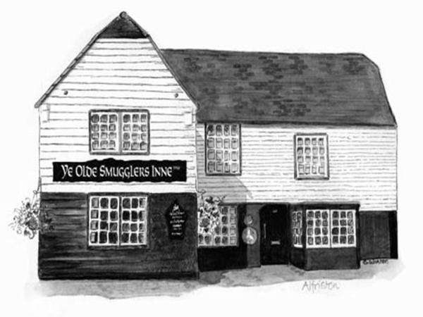 Ye Olde Smugglers Inne in Alfriston, East Sussex, England