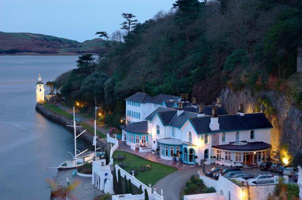 The Portmeirion Hotel & Castell Deudraeth in Porthmadog, Gwynedd, Wales