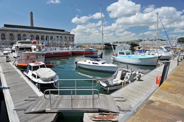 Drake's Wharf in Plymouth, Devon, England