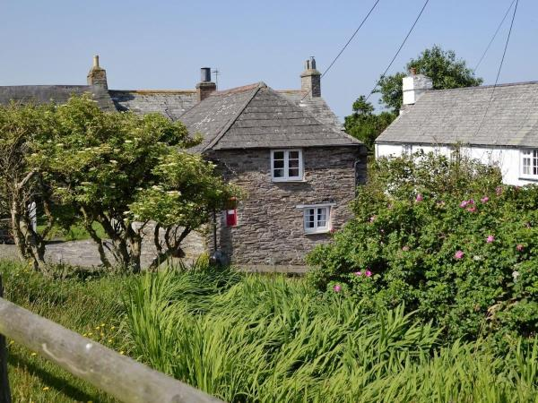 Pillar Box Cottage in Tintagel, Cornwall, England