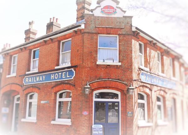 Railway Hotel in Faversham, Kent, England