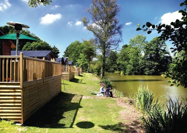 Upton Lakes Lodges in Cullompton, Devon, England