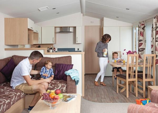 Porth Beach Holiday Park in Newquay, Cornwall, England