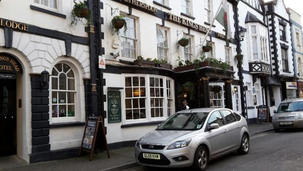 The King's Head in Monmouth, Monmouthshire, Wales