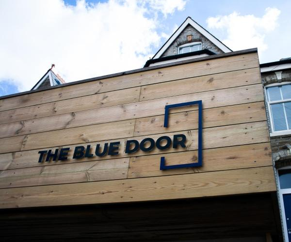 The Blue Door in Newquay, Cornwall, England