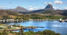 Caisteal Liath Chalets in Lochinver, Highland, Scotland