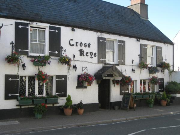The Crosskeys Inn in Usk, Monmouthshire, Wales