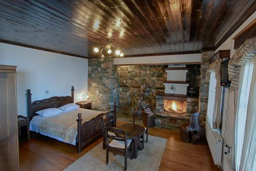 مزدوجة مع مدفأة (Double Room with Fireplace)