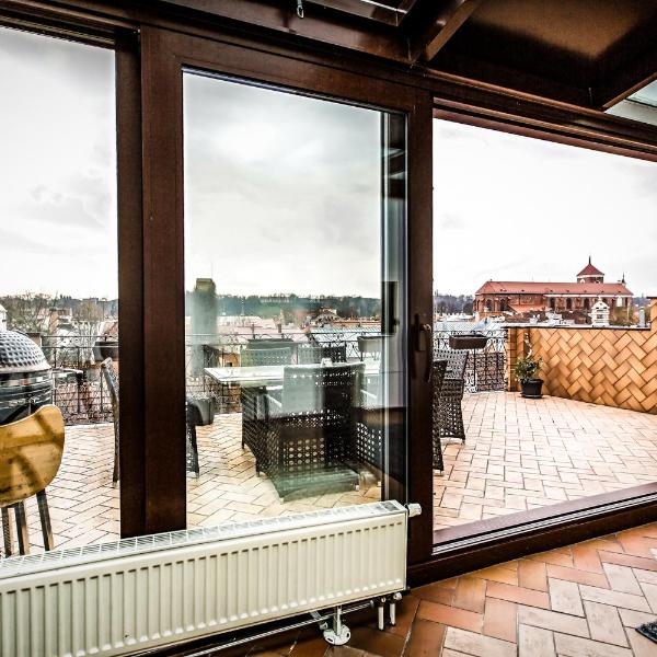 Best Old Town View ORCHID LUXURY SUITE Roof Terrace Two Bedrooms