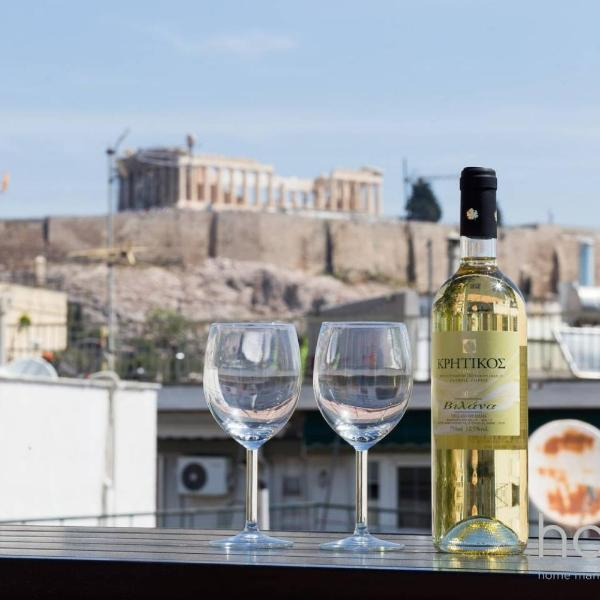 Apartment 102m² - Roof Garden with Acropolis View