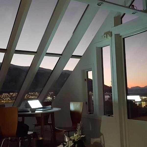 Glass roof private loft in Tromsø